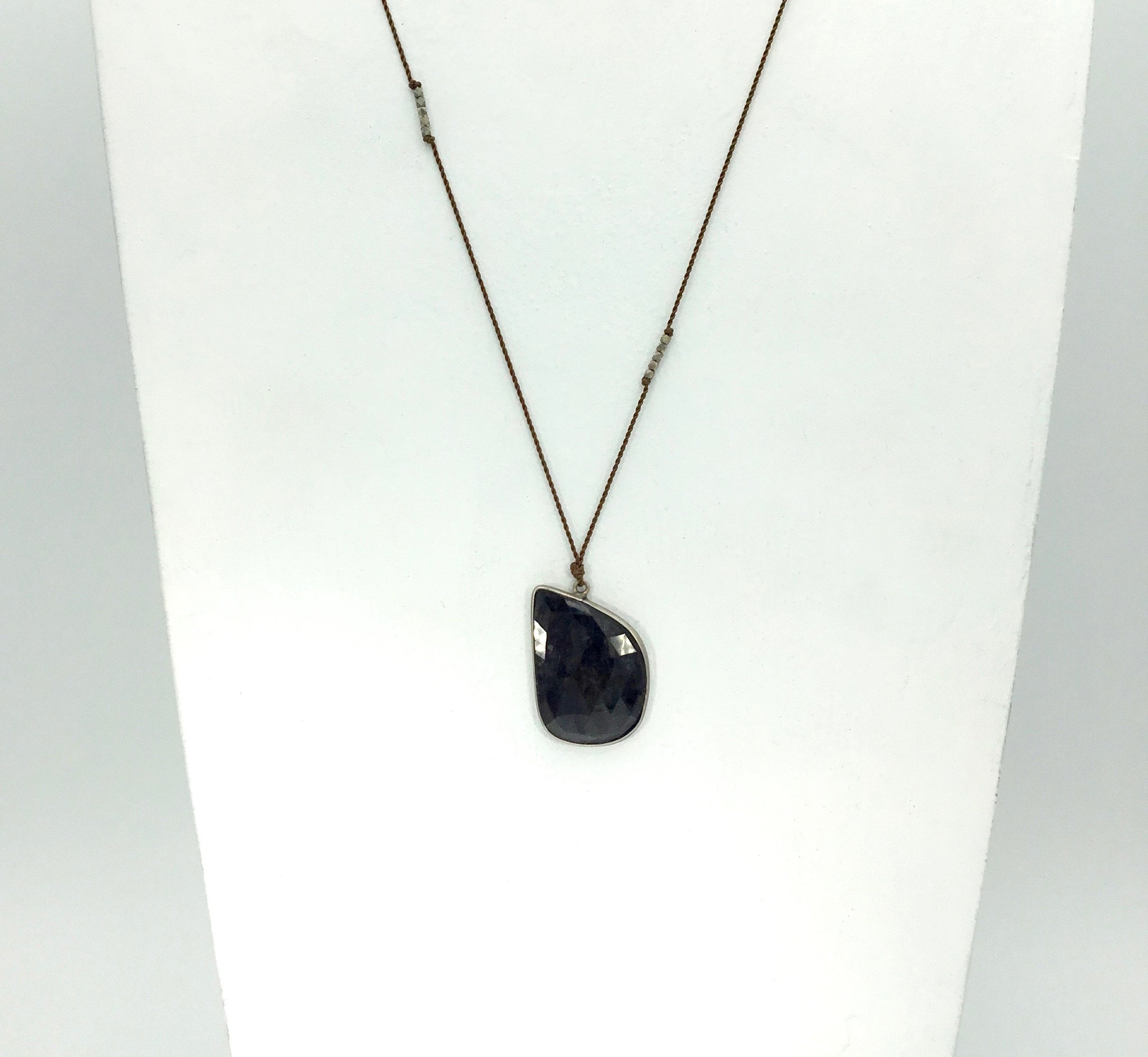 Margaret Solow Large Dark Sapphire Necklace