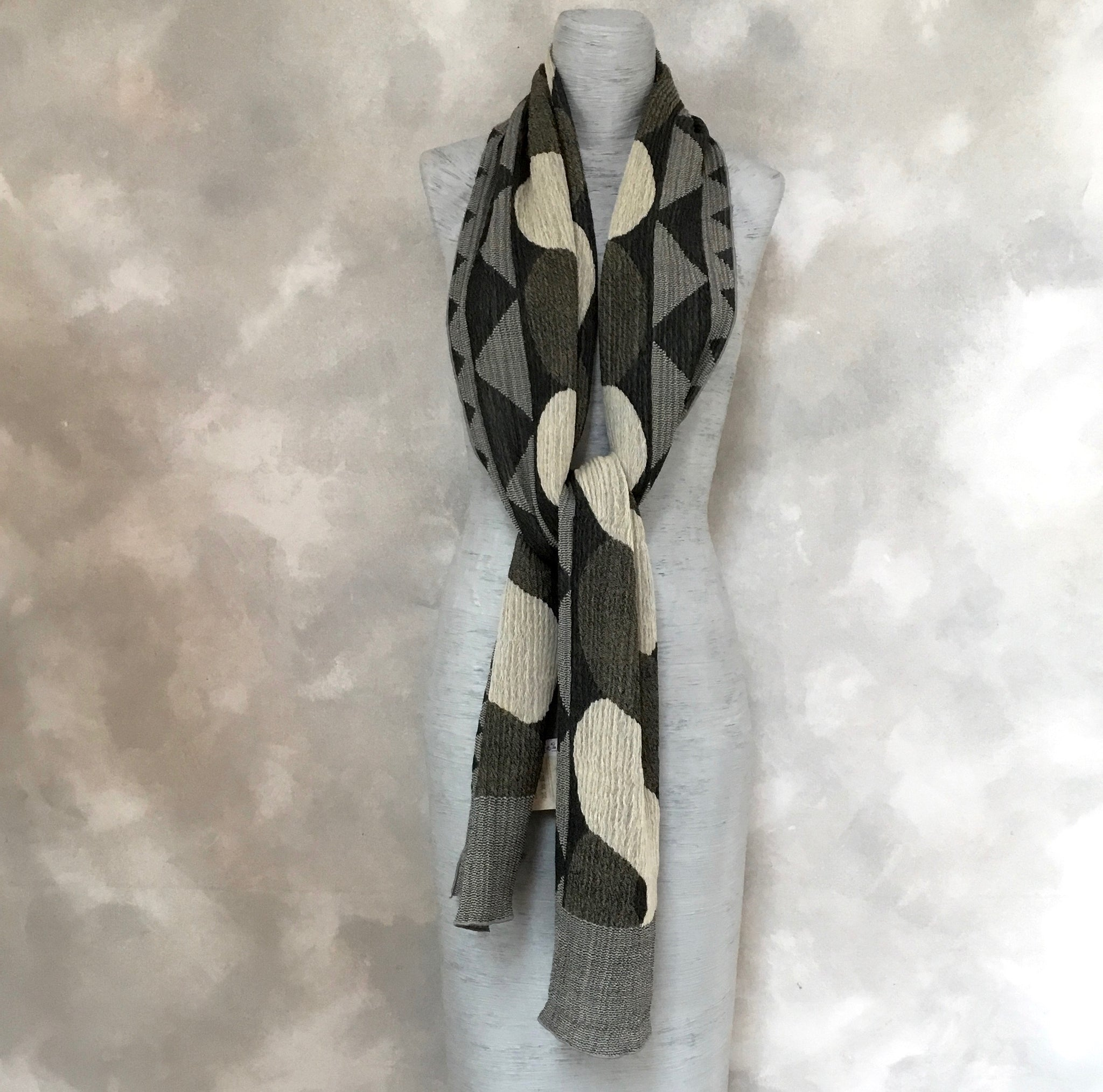 Nuno Wool Scarf in Natural Tones