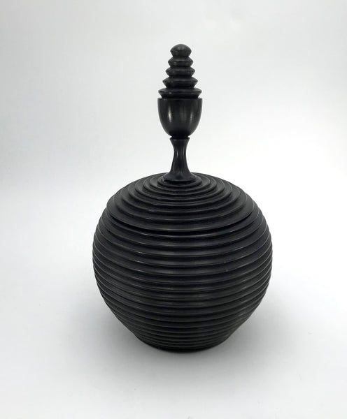 Round Ebony Container