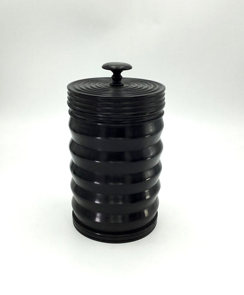 Large Turned Ebony Container