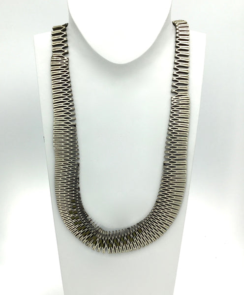 Oropopo VLA Long Chain Necklace in Silver