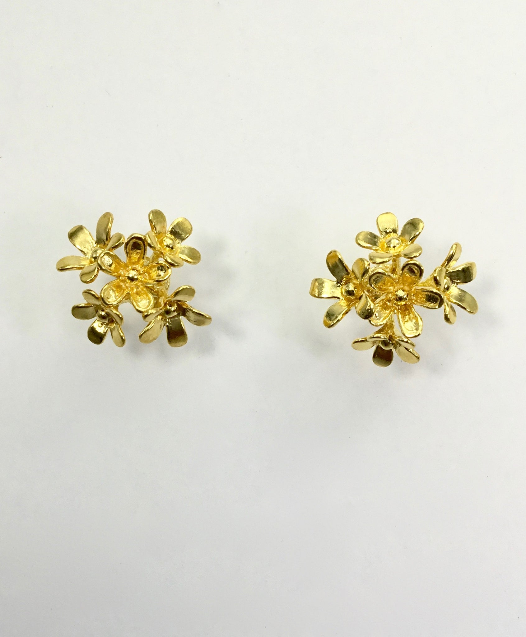 Priya Himatsingka Plumeria 5 Cluster Stud Earrings