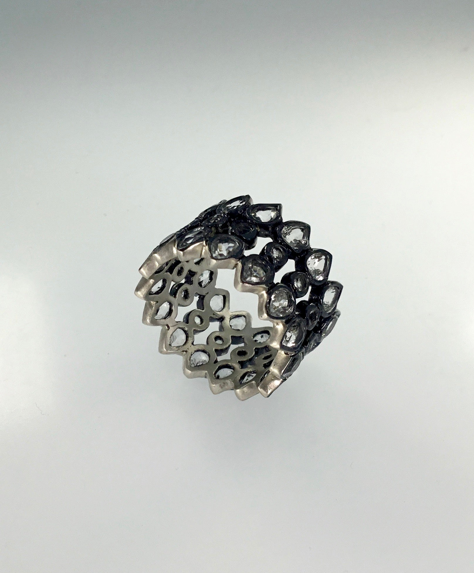 Priya Himatsingka Galaxy 3-Row Wide Ring