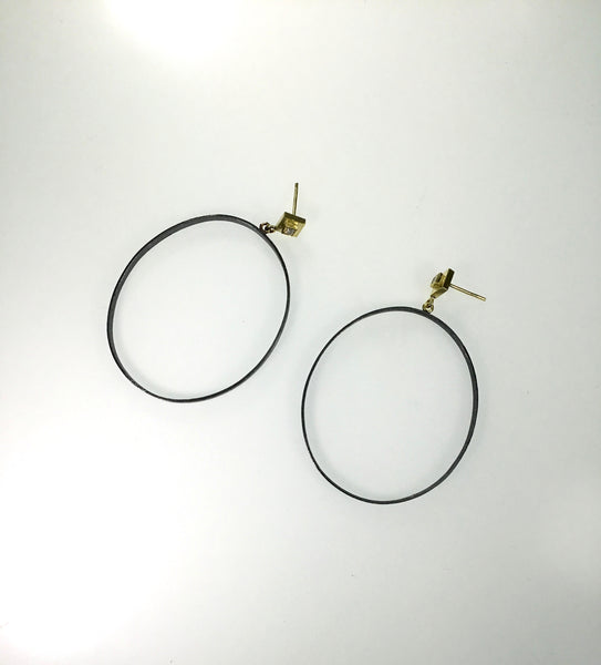 Rene Escobar Sterling and Gold Earrings