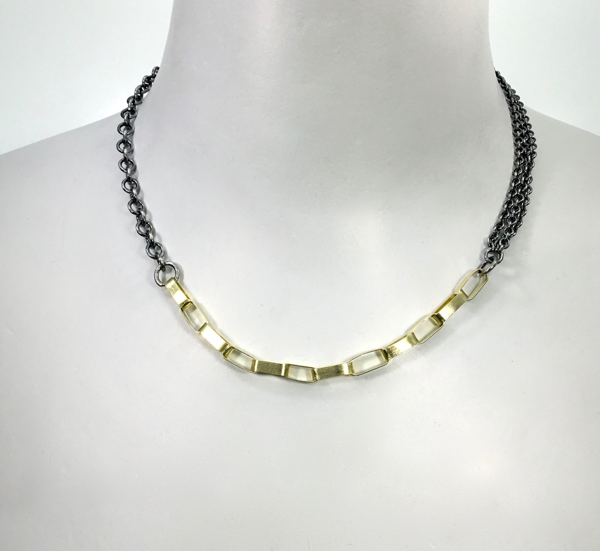 Rene Escobar Silver and Gold Necklace