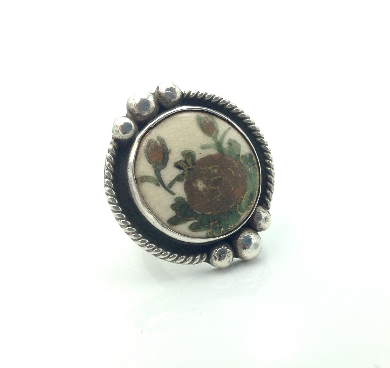 Japanese Satsuma Button Ring