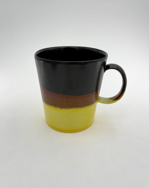 SGW LAB  Brown, Copper and Yellow Porcelain Mug