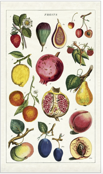 Cavallini Fruit Tea Towel
