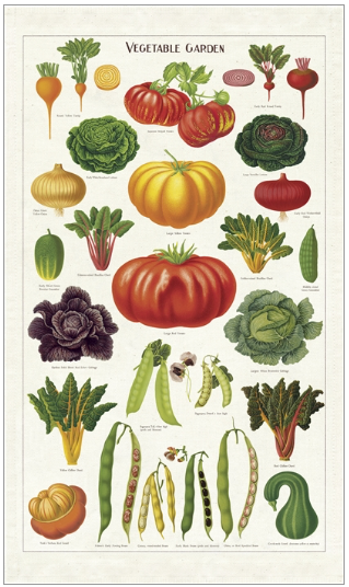 Cavallini Vegetable Tea Towel