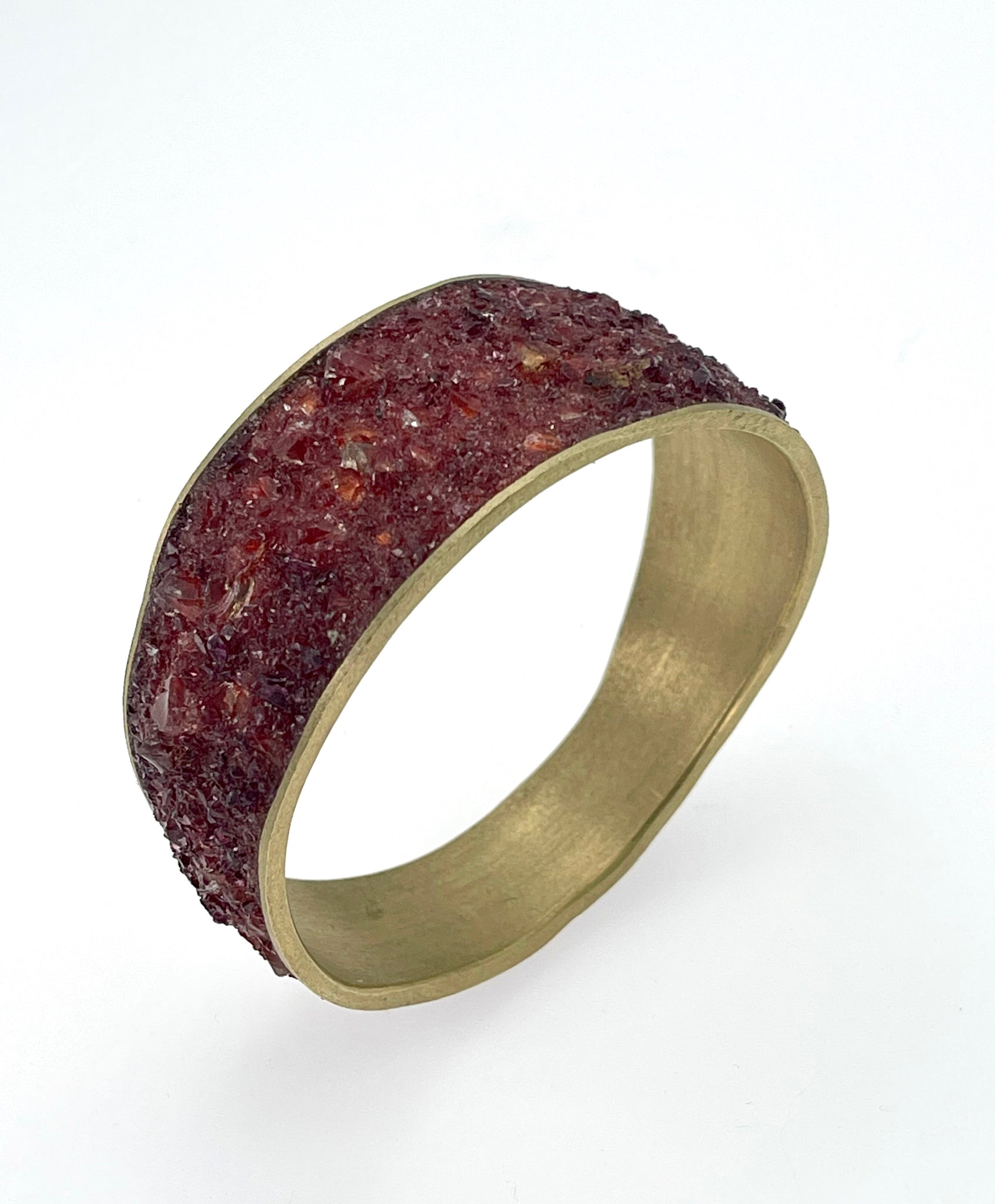 David Urso Wide Bangle in Garnet