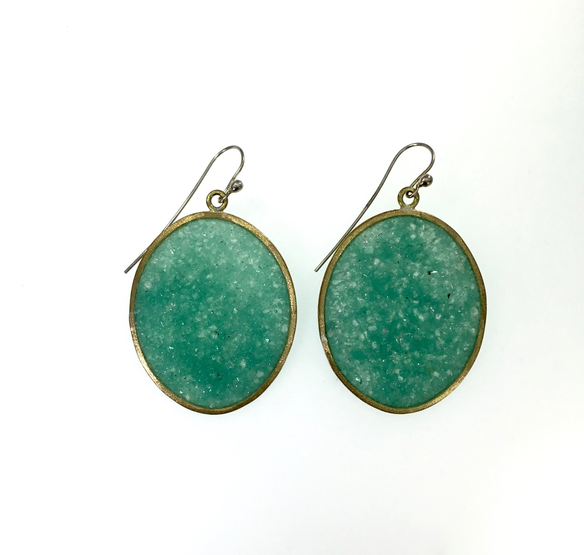 David Urso Large Boulder Earrings in Turquoise