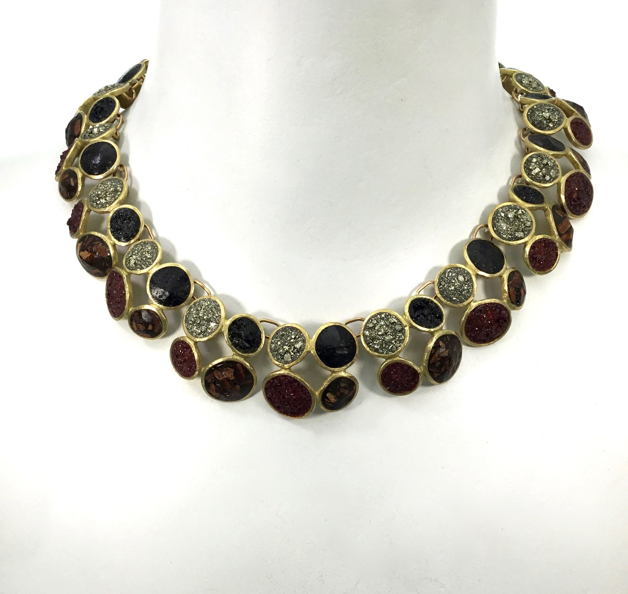 David Urso Bronze Quatro Necklace