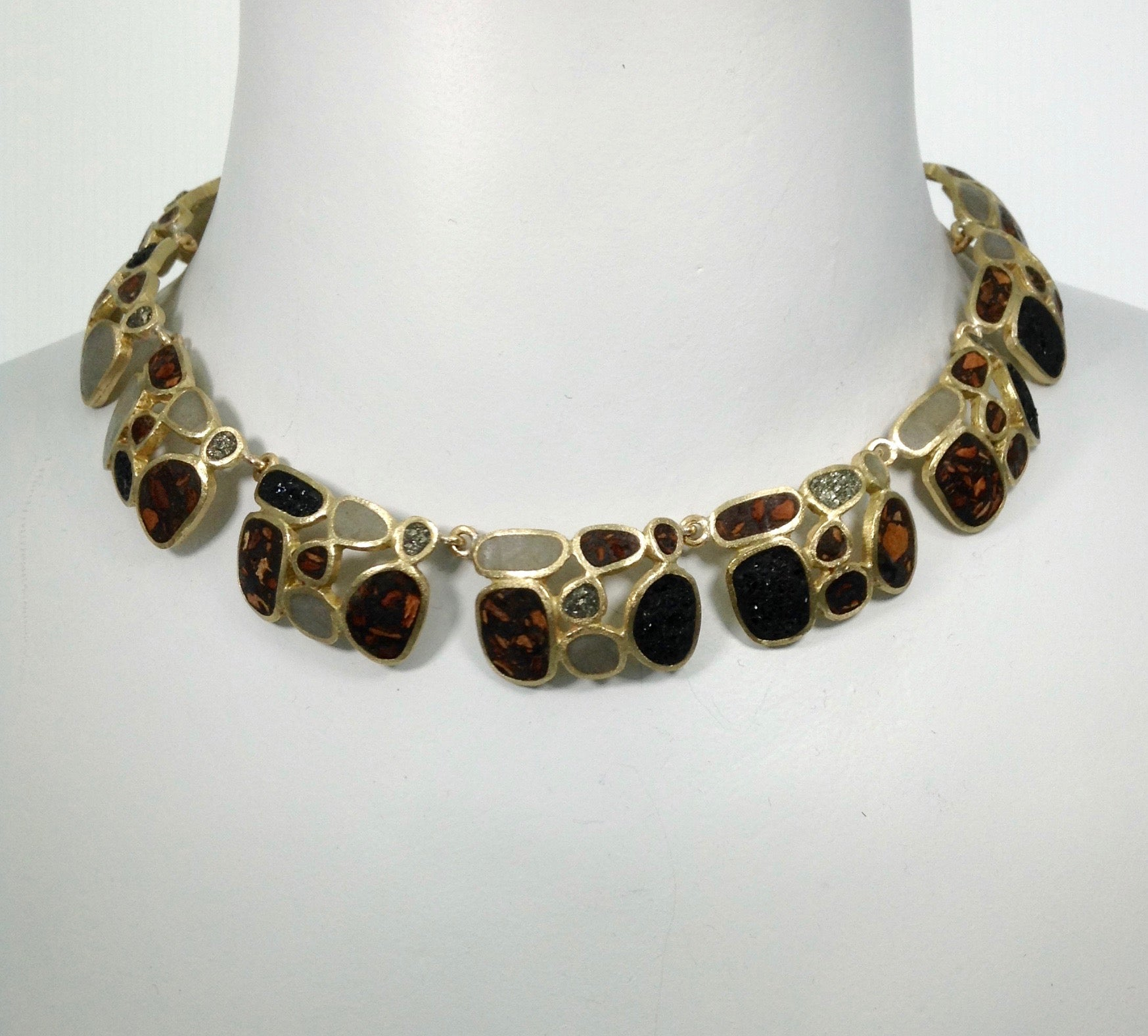 David Urso  Full Stack Bronze Necklace