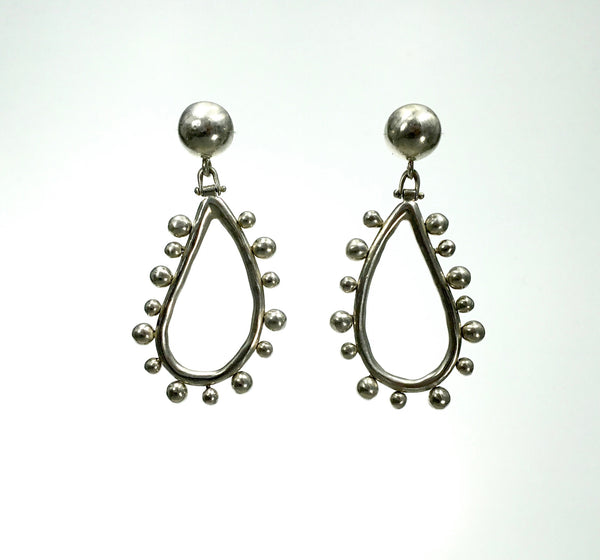Vaubel Small Loop with Balls Silver Earrings