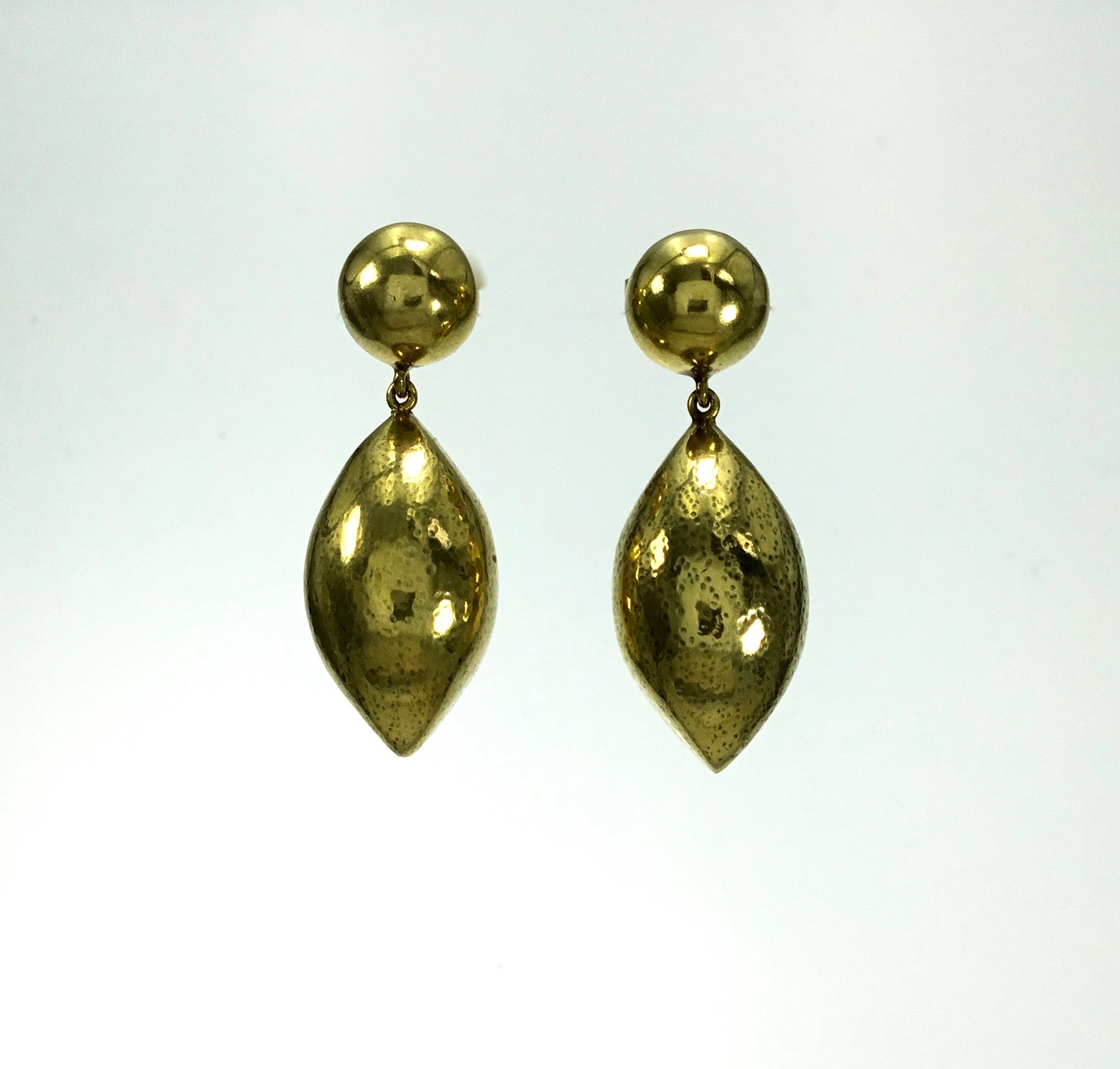 Vaubel Puffed Oval Drop Earrings