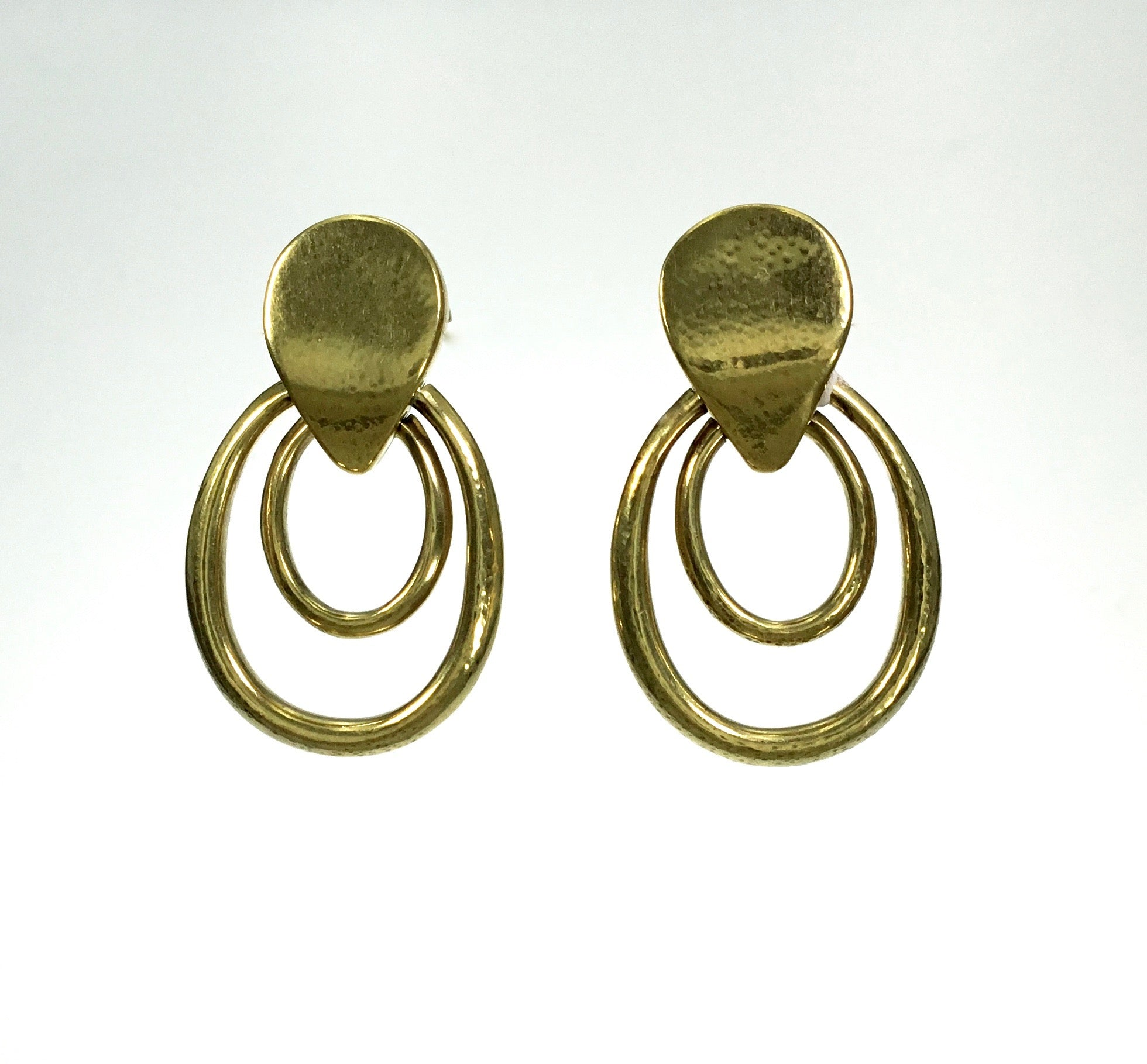 Vaubel Double Hoop Flat Top Earrings