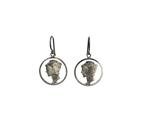 Stacey Lee Webber Lady Liberty Circled Drop Earrings
