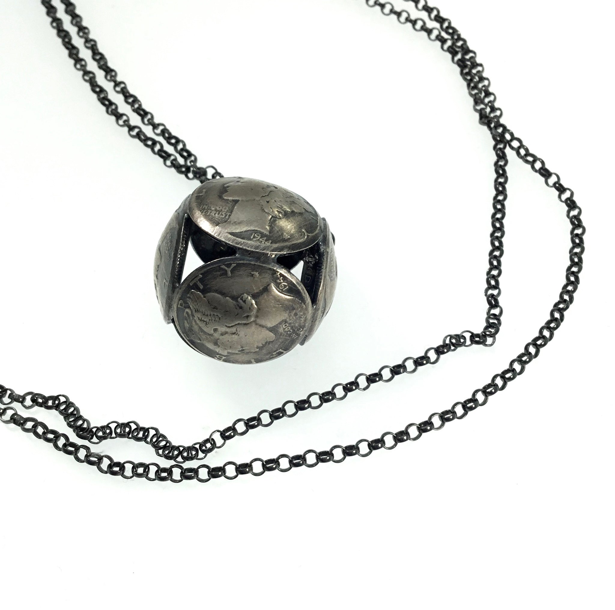Stacey Lee Webber Mercury Sphere Necklace