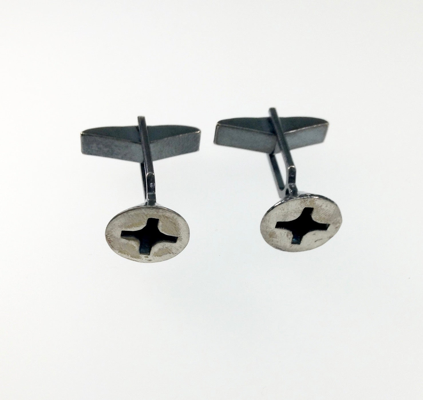 Stacey Lee Webber Sterling Silver Phillips Screw Cufflinks