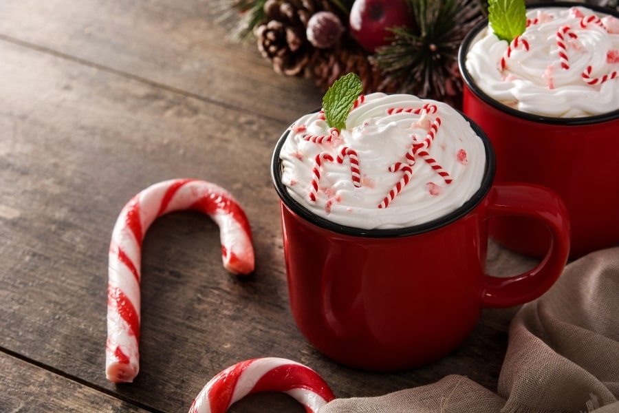 PEPPERMINT-FLAVORED COFFEE