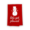 Let's Get Plowed, Flour Sack Towel Cotton, Multi-Purpose Holiday Kitchen Towel, Christmas Decor