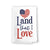 Land That I Love Kitchen Towels, 27 inch by 27 inch, 100% Cotton, Multi-Purpose Flour Sack Towels, Home and Kitchen Decor, Housewarming, Birthday, Fourth of July Gifts