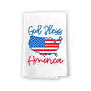 God Bless America Kitchen Towels, 27 inch by 27 inch, 100% Cotton, Multi-Purpose Flour Sack Towels, Home and Kitchen Decor, Housewarming, Birthday, Fourth of July Gifts
