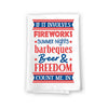 If It Involves Fireworks, Beer, Freedom Kitchen Towels, 27 inch by 27 inch, 100% Cotton, Multi-Purpose Flour Sack Towels, Home and Kitchen Decor, Housewarming, Fourth of July Gifts