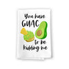 You Have Guac to Be Kidding Funny Kitchen Towels, Me Flour Sack Towel, 27 inch by 27 inch, 100% Cotton, Highly Absorbent Hand Towels, Multi-Purpose Towel