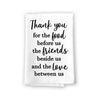Thank You for The Food Before Us, Inspirational Kitchen Towels, Flour Sack Highly Absorbent Multi-Purpose Hand and Dish Towel