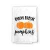 Farm Fresh Pumpkins, Autumn, Fall and Thanksgiving Decorative, Pumpkin Patch Multi-Purpose Cotton Flour Sack Dish and Hand Towel
