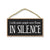 I Wish More People were Fluent in Silence, 7 inch by 10.5 inch Wood Signs, Decorative Artwork, Home Decor, Hanging Wooden Signs