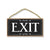 Exit, 5 inch by 10 inch Hanging Wooden Sign, Decorative Door Art, Housewarming Gifts, Home and Office Decor, Wooden Door Signs