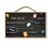 First Day of School, 10 inch by 16 inch Wood Sign, Reusable Chalkboard, Home and School Decorative