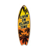 Livin' on Island Time Wooden Surfboard Signs, 5 inch by 16 inch, Wooden Hanging Sign, Decorative Wall Art, Home Party Summer Decor