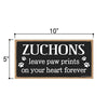 Zuchons Leave Paw Prints Wooden Home Decor for Dog Pet Lovers, Decorative Wall Sign, 5 Inches by 10 Inches