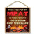 Once You Put My Meat in Your Mouth Kitchen Wooden Decor, Man Cave Hanging Wood Sign, 10 Inches by 10 Inches, Inappropriate Funny Wall Signs