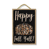 Happy Fall Y'all, Fall and Autumn Signs Decor, Decorative Wood Hanging Sign, 7 Inches by 10.5 Inches