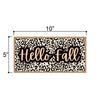 Hello Fall, Fall and Autumn Signs Decor, Decorative Wood Hanging Sign, 5 Inches by 10 Inches