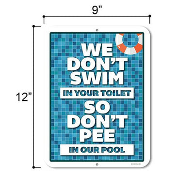 Pool Signs and Decor