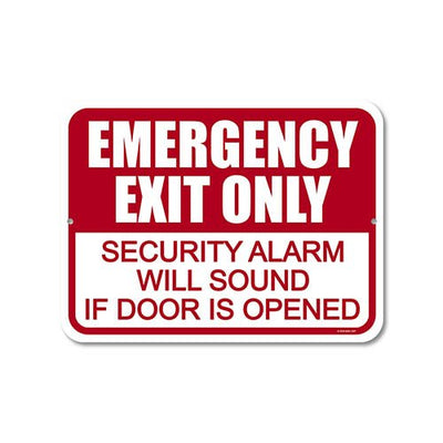 Business Emergency Exit Signs