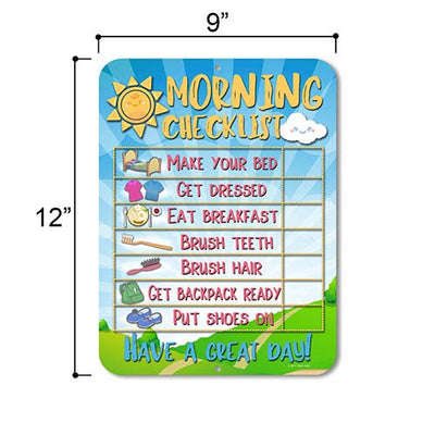 Daily Morning Routine Reward Chart