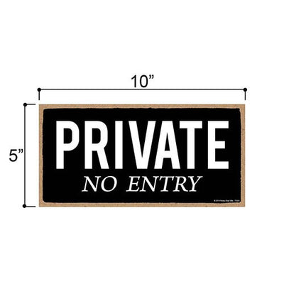 Private No Entry Sign