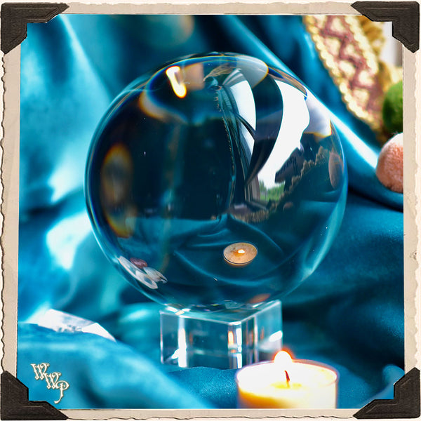 CRYSTAL GAZING BALL. For Fortune Telling, Divination & Seance 110mm