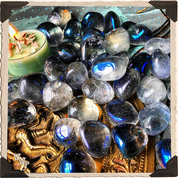 AQUA AURA QUARTZ TUMBLED CRYSTAL. For Soul Energy, Peace & New Doorways.