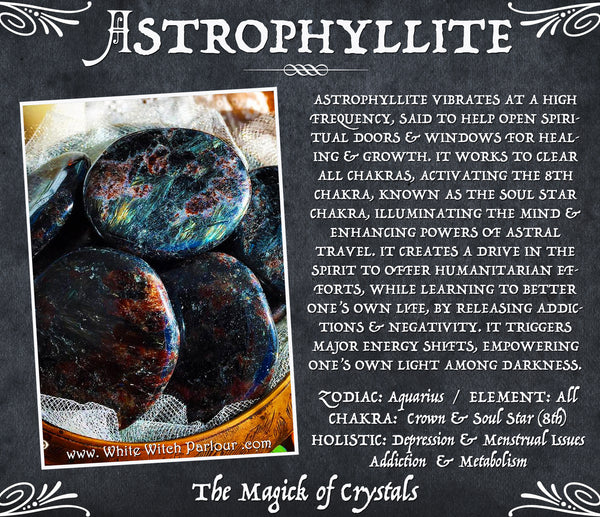 ASTROPHYLLITE PALM STONE. Worry Stone. For Spiritual Illumination & Major Energy Shifts.