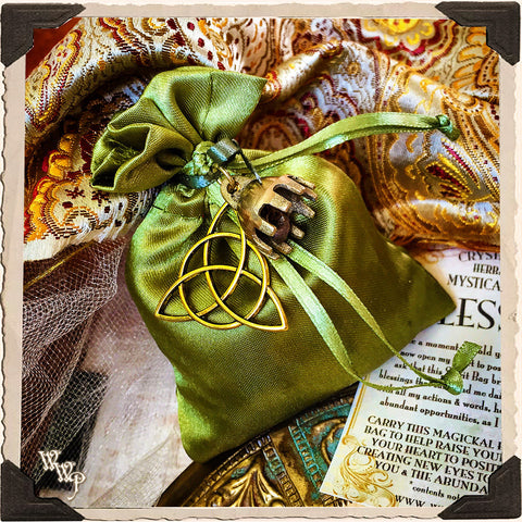 BLESSINGS SPIRIT BAG. Blessed Mojo Medicine Bag For Prosperity, Good Luck & Positive Energy.