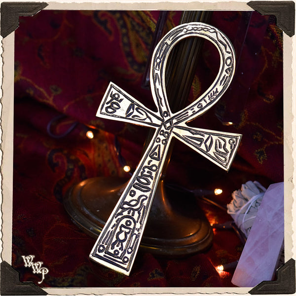 BRASS CARVED ANKH. For Harnessing Energy & Spiritual Awakenings