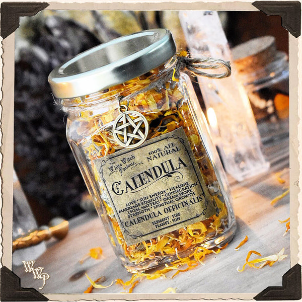 CALENDULA APOTHECARY. Calendula Officinalis Dried Herbs. For Sun Energy, Healing & Strength