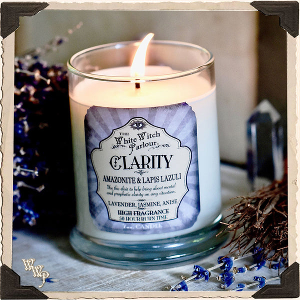 CLARITY Elixir Apothecary CANDLE 7oz. For Bliss, Emotional & Prophetic Clarity.